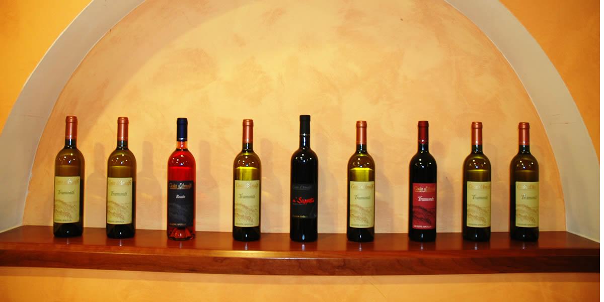 Ristorante Pizzeria Positano - Particolare dei vini
