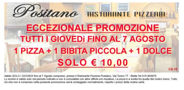 CG-07 Promozione 1 Pizza + 1 Bibita + 1 Dolce SOLO 10 euro