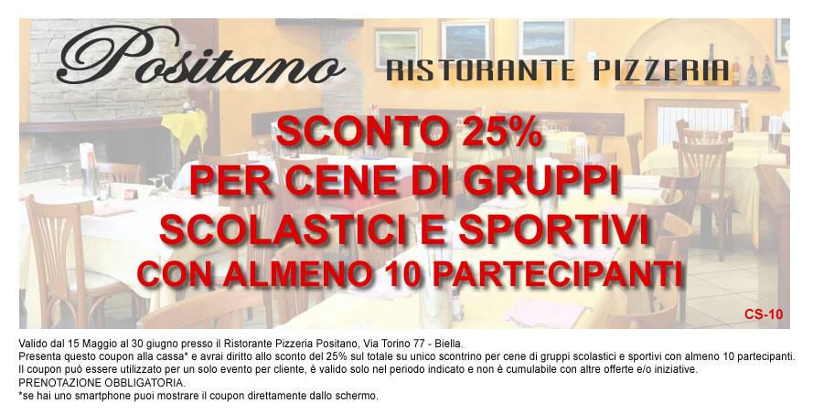 Ristorante Pizzeria Positano - Buono sconto cene